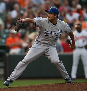 Bruce Chen Major League Baseball pitcher in the Kansas City Royals organization