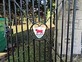 Bull on the gate - geograph.org.uk - 1634809.jpg