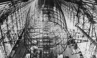 LZ 129 Hindenburg - Hindenburg under construction