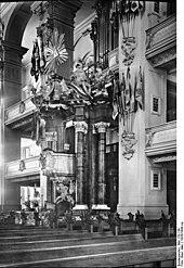 Friedrich ruhte von 1786 bis 1943 in der Gruft des Königlichen Monuments der Potsdamer Garnisonkirche (Quelle: Wikimedia)