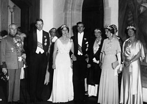 Princess Sibylla of Saxe-Coburg and Gotha - Wedding of Princess Sibylla and Prince Gustaf Adolf of Sweden in Coburg in 1932.