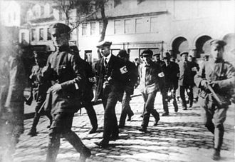 March Action - Arrested revolutionary workers escorted by police in Eisleben.