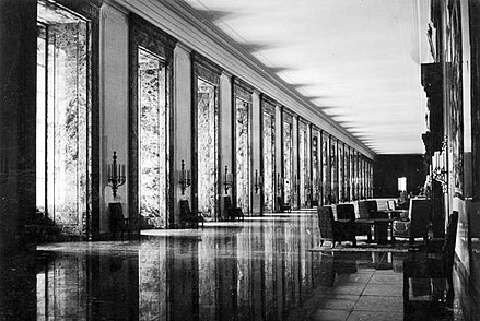 Marble Gallery of the New Reich Chancellery - Albert Speer