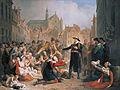 Burgomaster van der Werf offers his sword to the people of Leiden, by Mattheus Ignatius van Bree.jpg