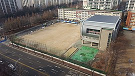 Burim Middle School, Photographed in the 15th Floor of an Hangaram Segyeong apartment.jpg