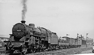 Birmingham and Derby Junction Railway - Transfer freight near Burton-on-Trent in 1957