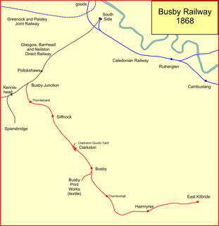 Busby Railway railway in South Lanarkshire, Scotland, UK