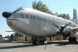 Travis Air Force Base Heritage Center - C-124C Globemaster II display in the outdoor air park.  This aircraft model was stationed at Travis Air Force Base from 1953-1967.