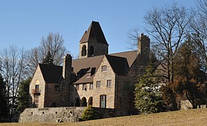 Bryn Athyn Historic District - Image: CAIRNCREST, HAROLD F. PITCAIRN HOME