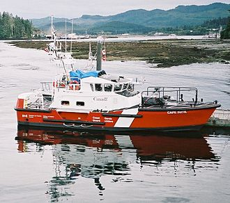 Lifeboat (rescue) - Image: CCGC Cape Sutil at CCG Station Port Hardy