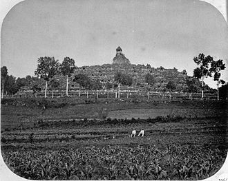 Magelang Regency - Borobudur temple in Magelang around 1866.