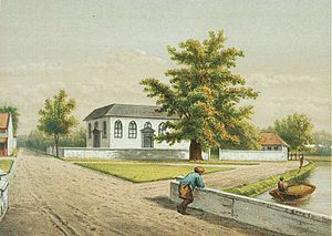 Gereja Sion - Lithograph of the Zion Church (1883-1889)