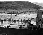 CONFLICT IN KOREA- ROK diversionary landing Sept 15 north of Pohang results in disaster but subsequent rescue to 780 ROK commandos after LST runs aground in typhoon weather 111-SC-349898.jpg