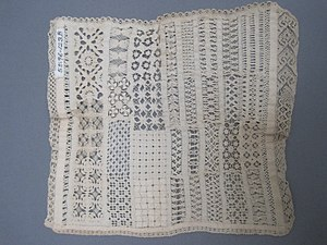 "Lace - Square ""Sampler,"" 1800-1825, Brooklyn Museum"
