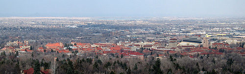 Looking down on the University of Colorado campus