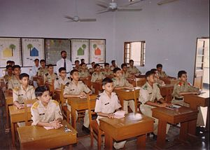 Education in Bangladesh - Cadets in a classroom