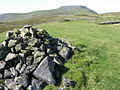 Cairn on Lord's Seat towards Ingleborough - geograph.org.uk - 1490412.jpg