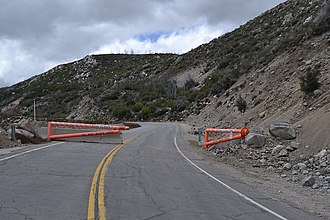 California State Route 39 - SR 39 closure in the San Gabriel Mountains