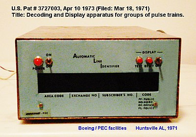 The first caller identification receiver Caller ID receiver.jpg