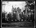 Calvin Coolidge and group outside White House, Washington, D.C. LCCN2016892827.jpg