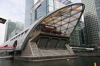 Canary Wharf railway station - Above-water section of the station known as Crossrail Place