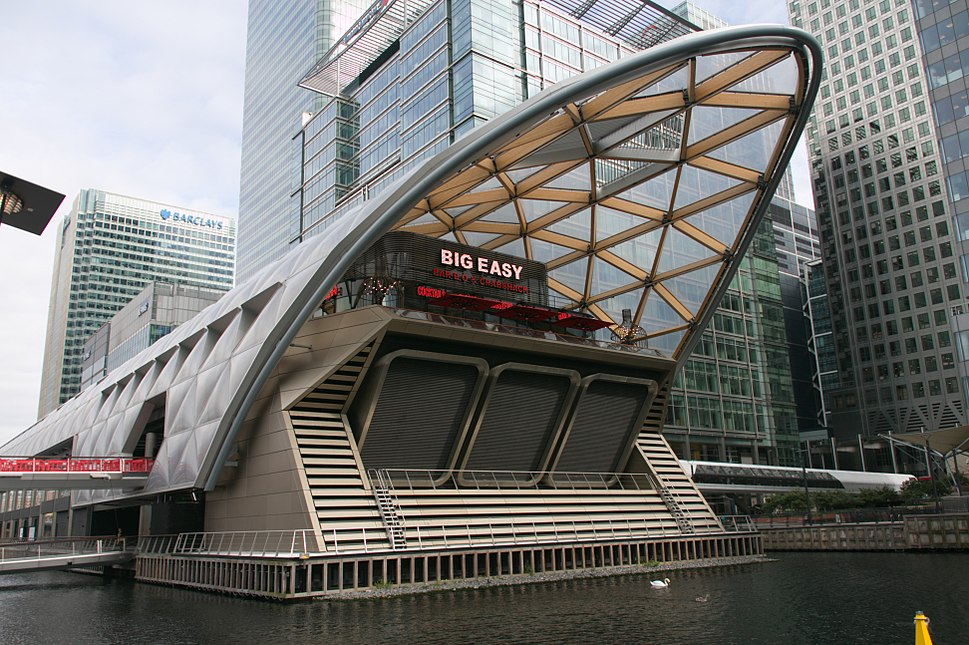Canary Wharf railway station - August 2016