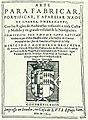 Cano Arte para fabricar, fortificar y aparejar naos de guerra y merchante 1611 portada ed1993.jpg
