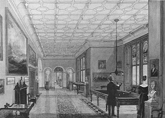 Capesthorne Hall - Entrance Hall in 1840