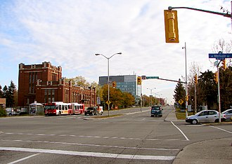 Carling Avenue - ... and same intersection today.