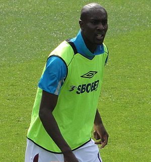 Carlton Cole before West Ham's game v Wigan, A...
