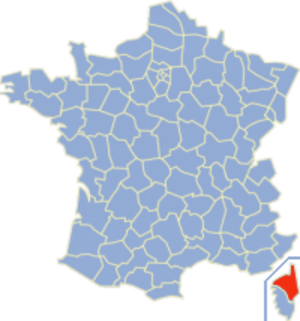 Communes of the Haute-Corse department - Image: Carte France Département 2B