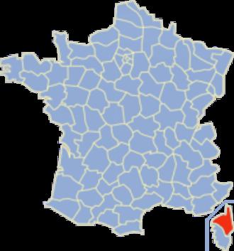 Communes of the Haute-Corse department - Image: Carte France Département 2B