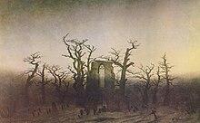 Caspar David Friedrich: Abtei im Eichwald, 1810 (Quelle: Wikimedia)