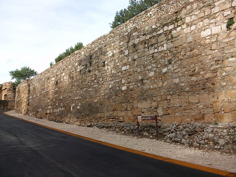 Castell de Dénia murs del segle XVIII.JPG