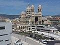 Cathédrale de la Major de Marseille - Depuis le MuCEM de Marseille - 2014-08-21- P1910783.jpg