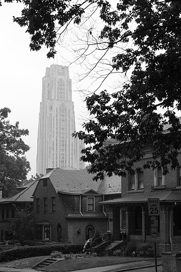 Cathedral of Learning from Schenley Farms