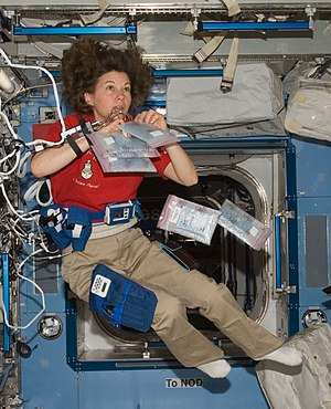 Catherine Coleman - Catherine Coleman in the ISS, 2011.