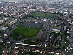 Cavalry Barracks, Hounslow from the air (geograph 4355462).jpg