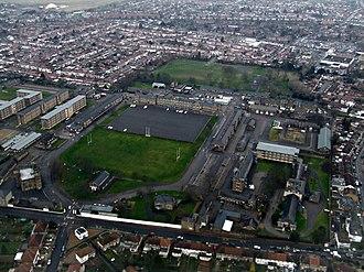 Cavalry Barracks, Hounslow - Aerial view of Cavalry Barracks, Hounslow