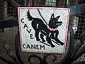 Cave canem italian sign.jpg