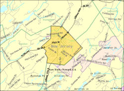 Census Bureau map of Newton, New Jersey