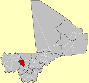 Location of Kolokani Cercle in Mali