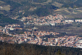 Céret seen from Fontfrède