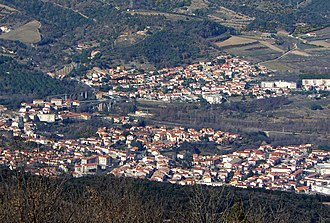 Céret - Céret seen from Fontfrède