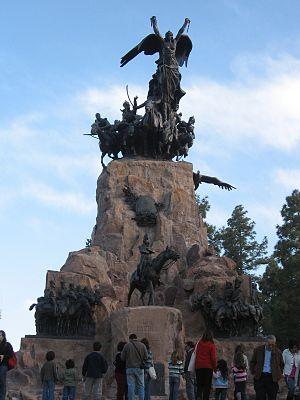 Cerro de la Gloria - Monument to the Army of the Andes.