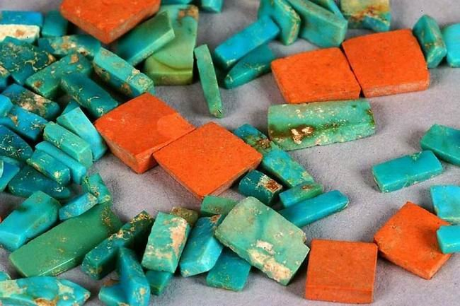 Chacoan turquoise with argillite
