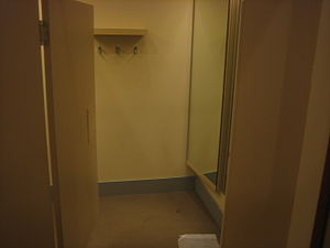 A changeroom in a department store