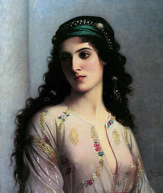 History of the Jews in Morocco - Jewish woman from Tangier (1874)