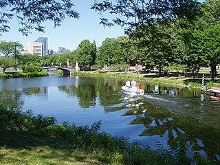 Charles River Reservation park in Massachusetts, United States