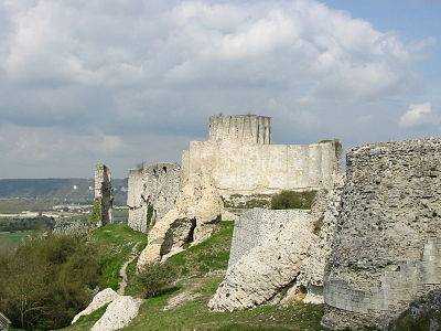 The ruins of Chateau Gaillard. Chateau gaillard (France).jpg